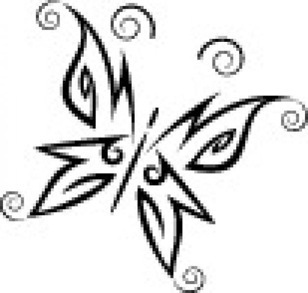 Vecteur de style simple papillon tribal t l charger des - Tribal papillon ...