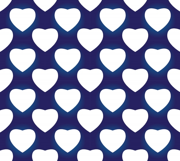 Vecteur de décor art simple de porcelaine transparente bleu et blanc indigo, forme de coeur bleu chinois, modèle en céramique Vecteur Premium