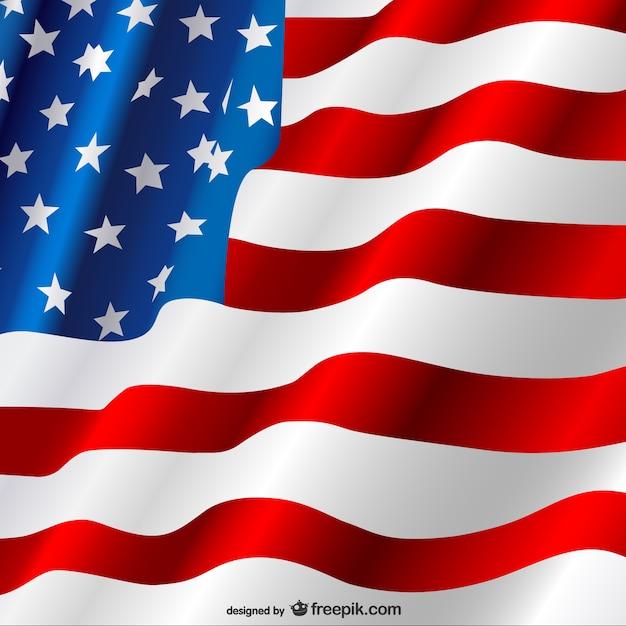 Vecteur de drapeau américain gratuit Vecteur gratuit
