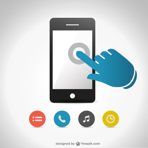 Vecteur de l'écran smartphone tactile gratuit Vecteur gratuit