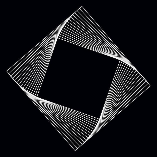 Vecteur d'élément géométrique carré abstrait Vecteur gratuit
