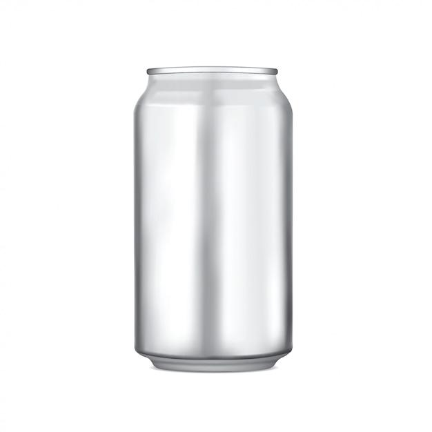 Vecteur d'emballage en aluminium Vecteur Premium