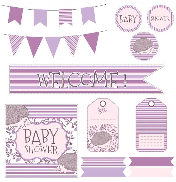 Vecteur de l'enfant pour la naissance d'un enfant Vecteur Premium