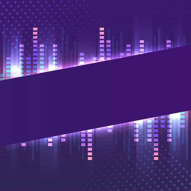 Vecteur de enseigne au néon bannière violet blanc Vecteur gratuit