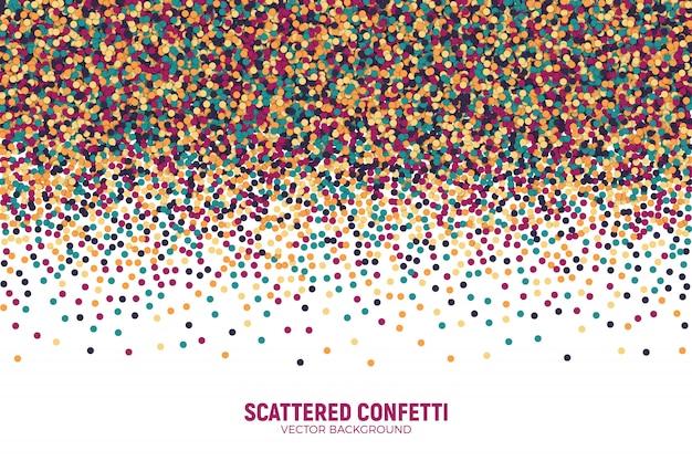 Vecteur épars fond coloré de confettis motley. Vecteur Premium