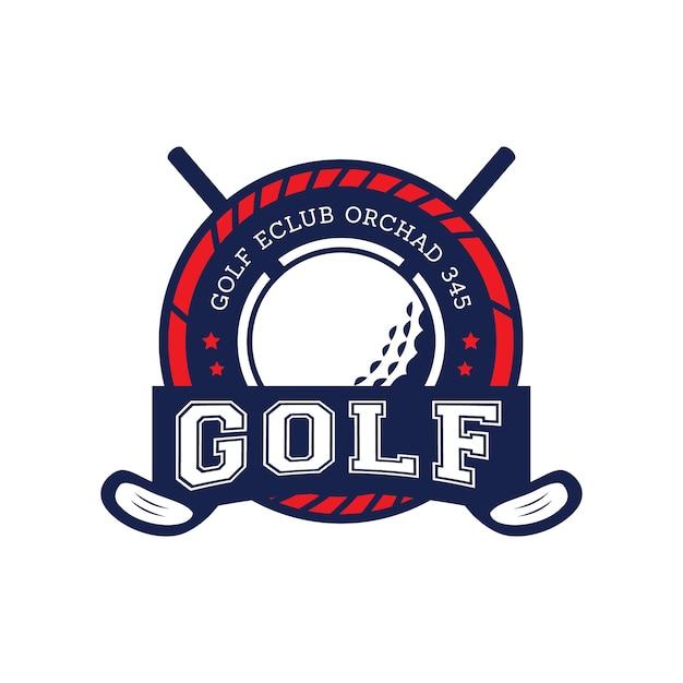 Vecteur d'étiquette de badges de golf Vecteur Premium