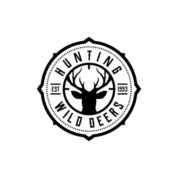 Vecteur d'étiquettes de club de chasse Vecteur Premium