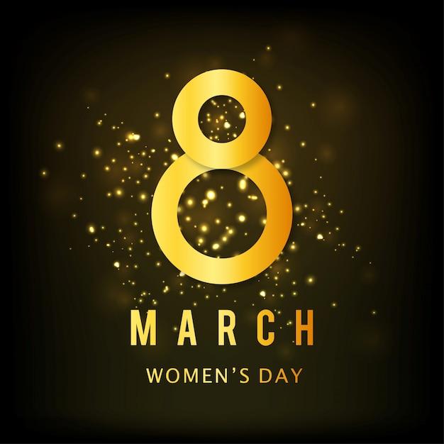 Vecteur des femmes de conception jour linéaire fond moderne et créative élégante carte de voeux pour célébrer la journée internationale de la femme Vecteur gratuit
