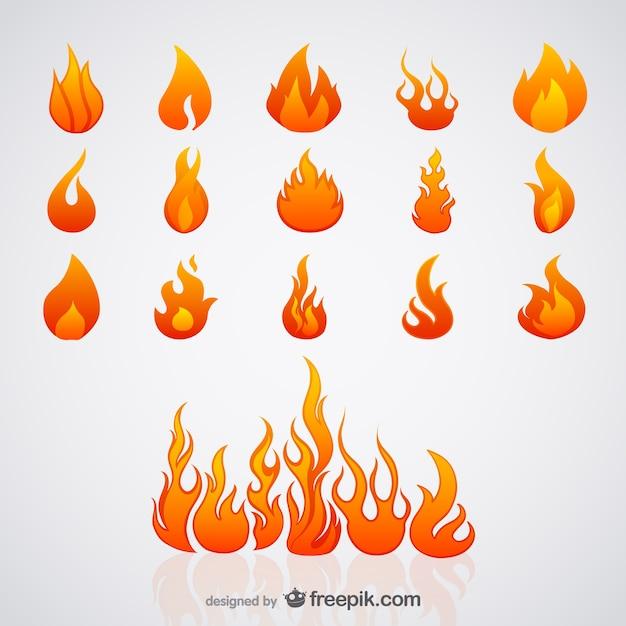 Vecteur De Flamme Vecteur Premium