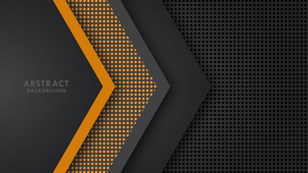 Vecteur de flèche chevauchent fond de couche. Vecteur Premium
