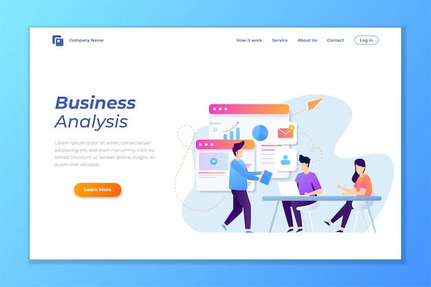 Vecteur de fond de bannière web pour l'analyse de données Vecteur Premium