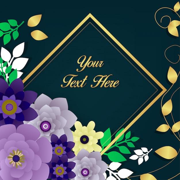 Vecteur de fond belle fleur Vecteur Premium