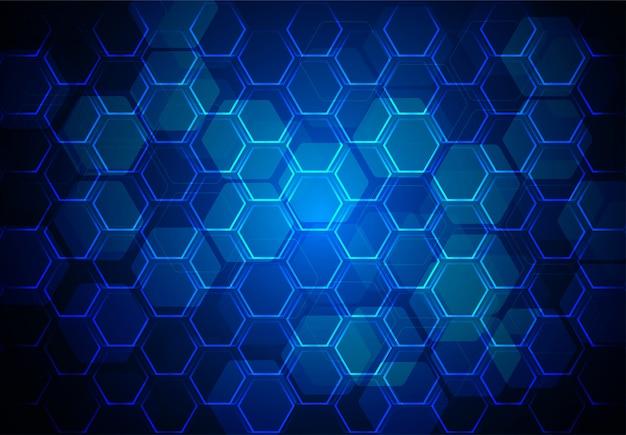 Vecteur de fond bleu hexagone abstrait Vecteur Premium