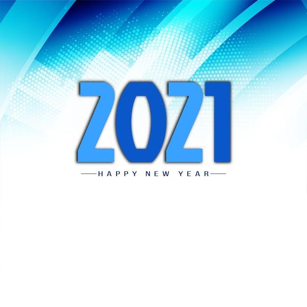 Vecteur De Fond Bleu Moderne Bonne Année 2021 Vecteur gratuit