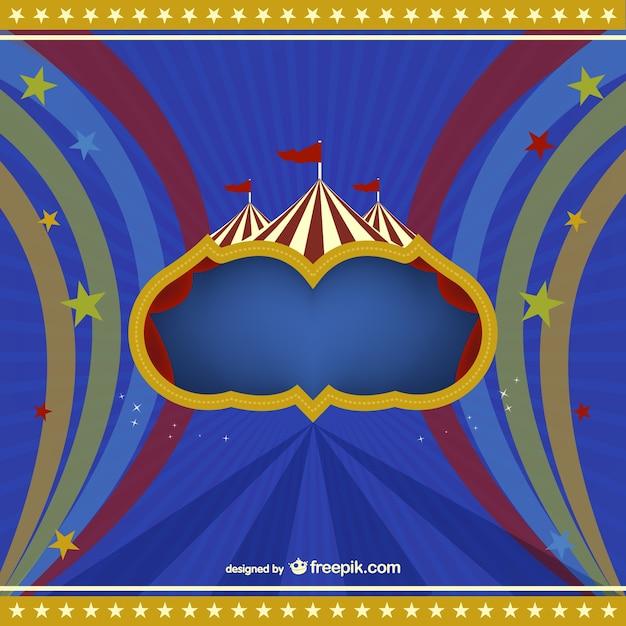 Vecteur de fond de cirque gratuit Vecteur gratuit
