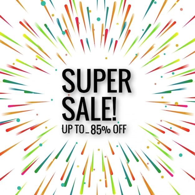 Vecteur de fond coloré super vente moderne Vecteur gratuit