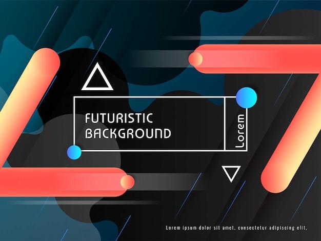 Vecteur de fond décoratif futuriste techno moderne Vecteur gratuit