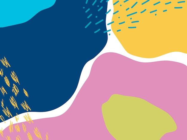 Vecteur de fond design coloré memphis Vecteur gratuit