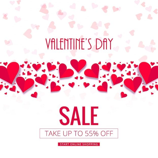 Vecteur de fond moderne vente saint-valentin Vecteur gratuit