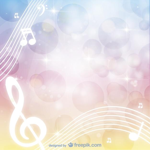 Vecteur de fond musical Vecteur gratuit