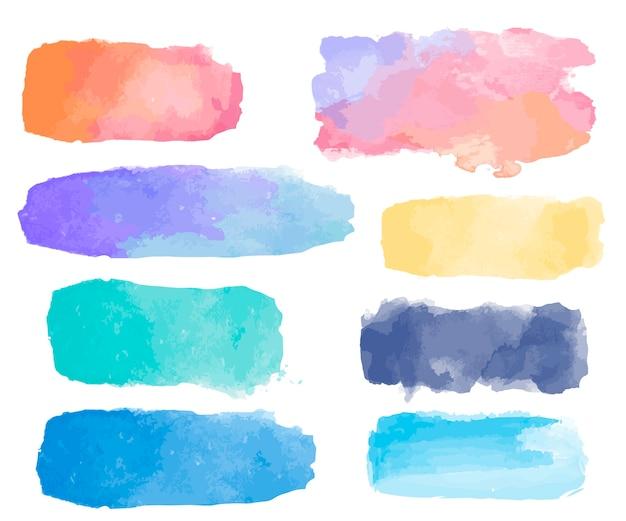 Vecteur de fond de patch aquarelle coloré Vecteur gratuit