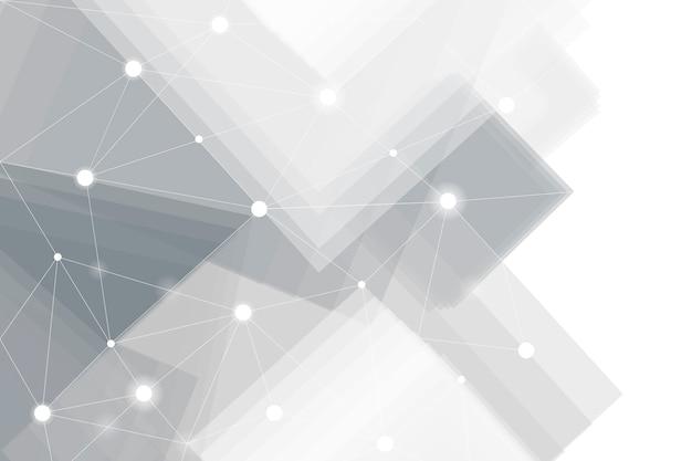 Vecteur De Fond De Technologie Futuriste Gris Et Blanc Vecteur gratuit