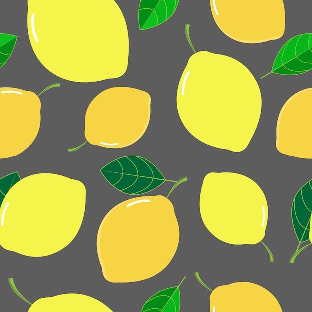 Vecteur de fond transparente motif citron frais Vecteur Premium