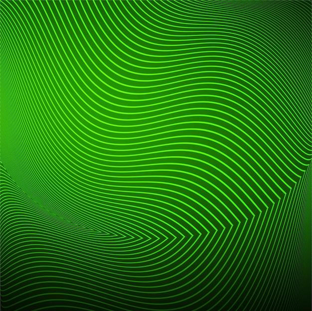 Vecteur de fond vague moderne ligne verte Vecteur gratuit