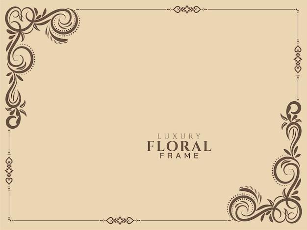 Vecteur De Fond Vintage Abstrait Cadre Floral Vecteur gratuit