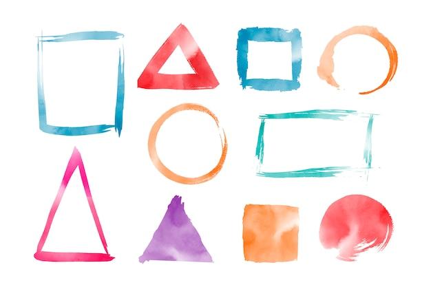 Vecteur De Formes Géométriques Aquarelles Vecteur gratuit
