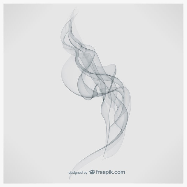 Vecteur de fumée art Vecteur gratuit
