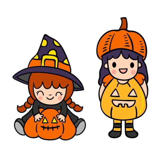 Vecteur de halloween heureux. Vecteur Premium