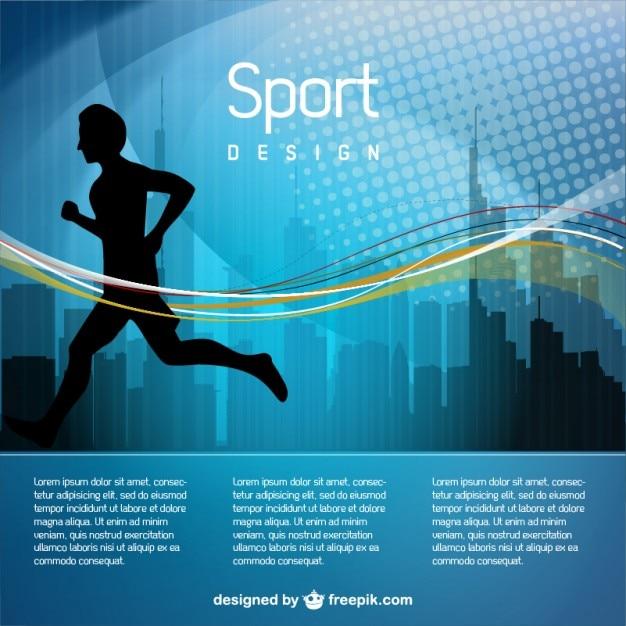 Vecteur homme de jogging illustration Vecteur gratuit