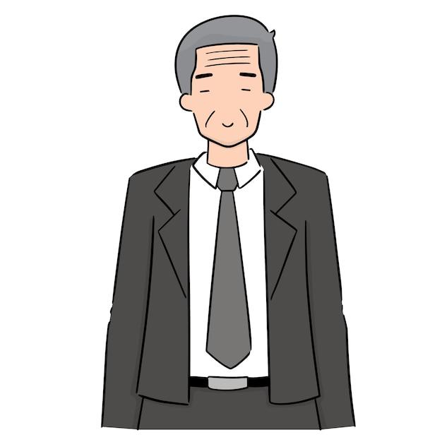 Vecteur d'un homme plus âgé Vecteur Premium