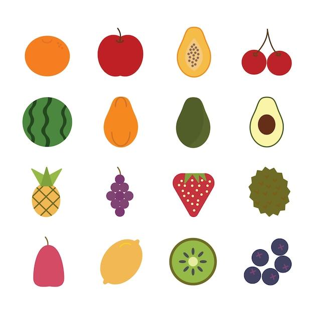 Vecteur D'icône De Fruits Vecteur Premium