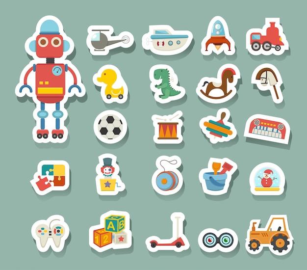 Vecteur d'icône de jouets Vecteur Premium