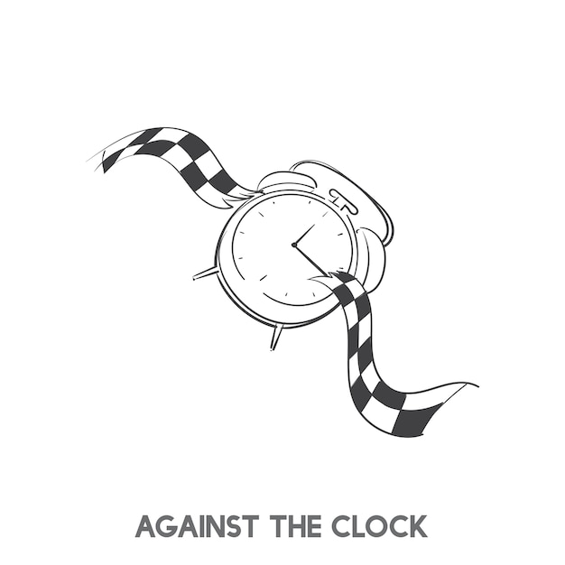 Vecteur idiome contre la montre Vecteur gratuit