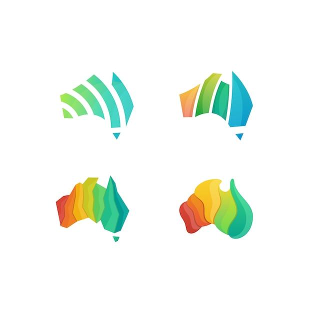 Vecteur d'illustration coloré australie Vecteur Premium