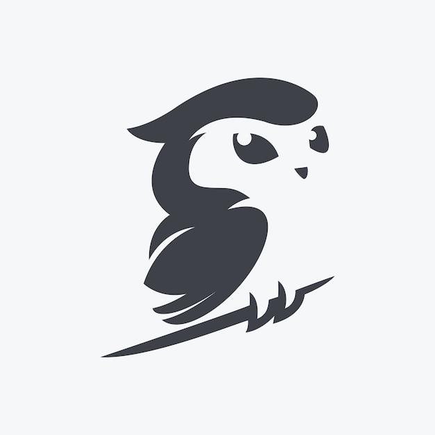 Vecteur d'illustration hibou mignon Vecteur Premium