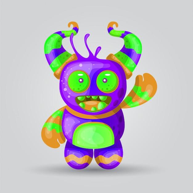 Vecteur d'illustration de monstre pour la conception d'impression Vecteur Premium