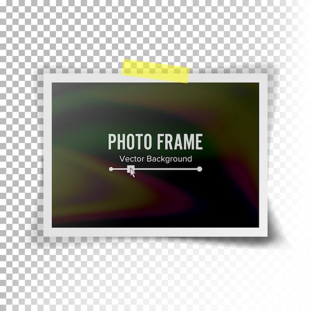 Vecteur d'image instantanée photo. photoréaliste Vecteur Premium
