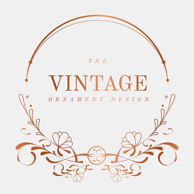 Vecteur d'insigne vintage art nouveau luxueux Vecteur gratuit