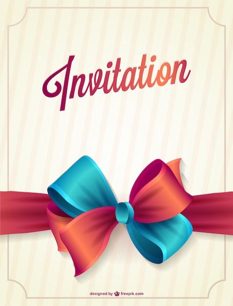Vecteur D Invitation Gratuite Telecharger Des Vecteurs Gratuitement