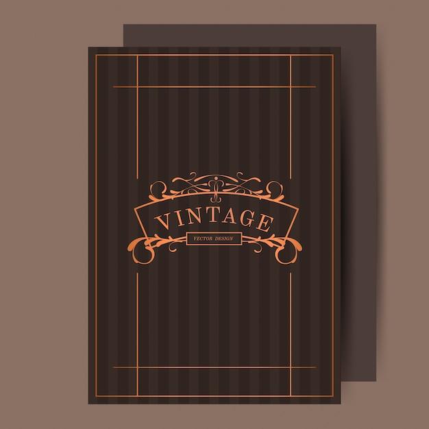 Vecteur d'invitation de mariage art nouveau bronze Vecteur gratuit