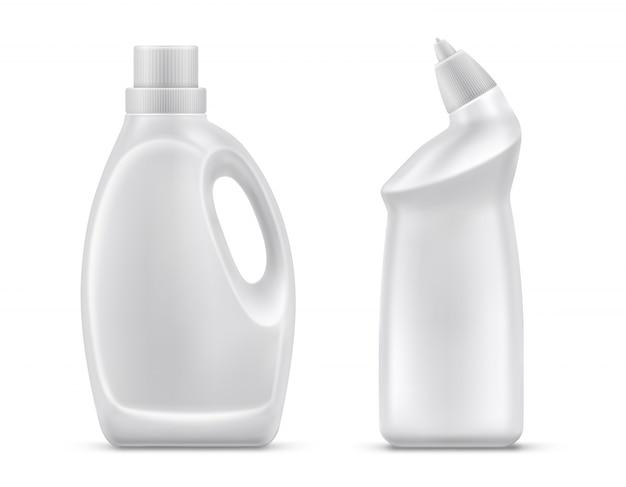Vecteur isolé de bouteilles de chimie domestique Vecteur gratuit