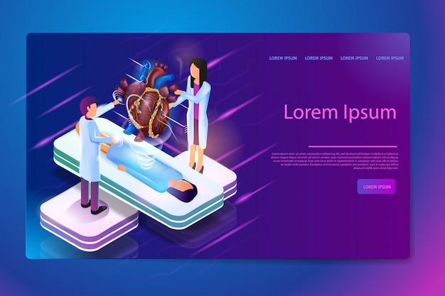 Vecteur Isométrique Des Futures Technologies Médicales Vecteur Premium