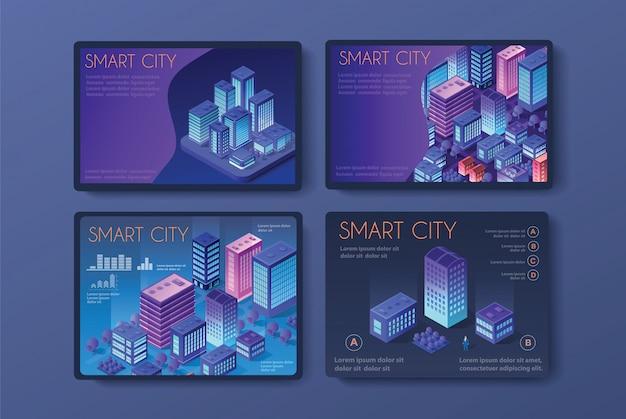 Vecteur isométrique urbain Vecteur Premium