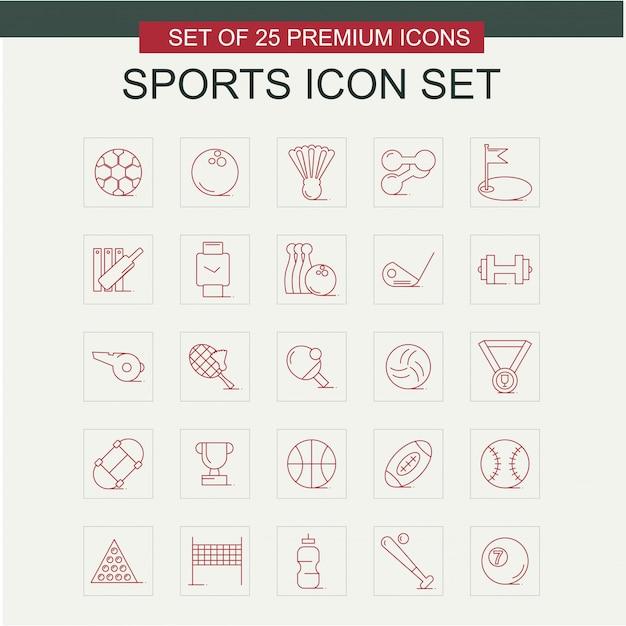 Vecteur de jeu d'icônes de sport Vecteur gratuit