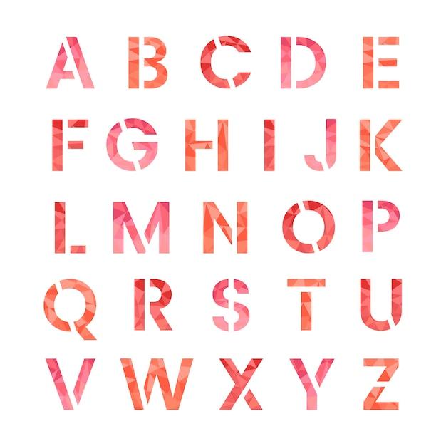 Le vecteur de lettres majuscules de l'alphabet anglais Vecteur gratuit