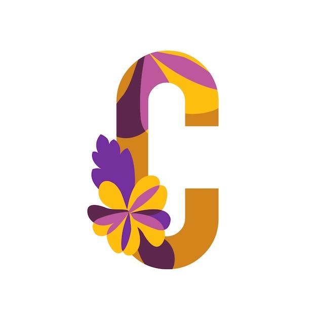 Vecteur de lettres à motifs floraux Vecteur gratuit